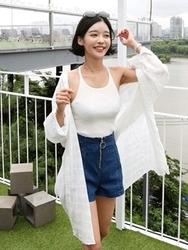 qnigirls-韩国时尚魅力个性纯色韩国代购正品衬衫女装2017年08月07日08月款