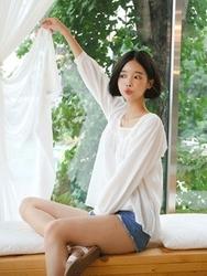 qnigirls-韩国韩版魅力个性方领韩国代购正品衬衫女装2017年08月07日08月款