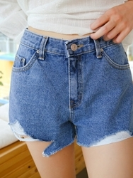 qnigirls-韩国女性牛仔夏季流行韩国代购短裤女装2017年08月07日08月款