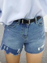 qnigirls-韩国搭配魅力女性时尚牛仔韩国代购短裤女装2017年08月07日08月款