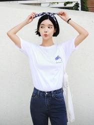 qnigirls-韩国时尚纯色魅力新款韩国代购T恤女装2017年08月09日08月款