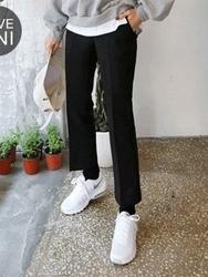 1区2017冬季新款韩国服装qnigirls品牌韩版时尚流行长裤(制作商品)(2017.12月)