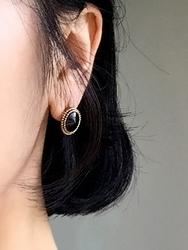 2018新款韩国服装qnigirls品牌圆形时尚魅力耳环(2018.1月)