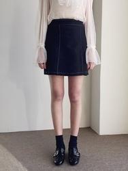 2018新款韩国服装qnigirls品牌A字形时尚魅力短裙(2018.1月)