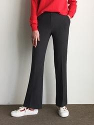 2018新款韩国服装qnigirls品牌搭配休闲纯色流行长裤(2018.1月)