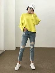 2018新款韩国服装qnigirls品牌舒适轻松魅力气质牛仔裤(2018.1月)