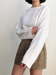 2018新款韩国服装qnigirls品牌可爱纯色简约流行针织衫(2018.1月)