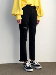2018新款韩国服装qnigirls品牌一字型时尚直筒长裤(2018.1月)