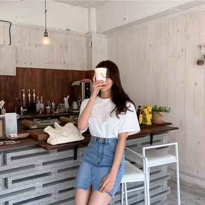 1区韩国本土服装代购(韩国圆通直发)qnigirls-T恤(2019-03-16上架)