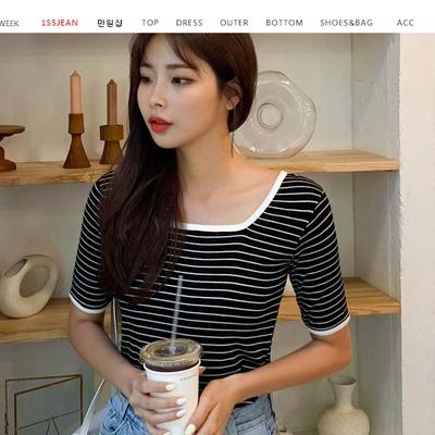 1区100%正宗韩国官网代购(韩国直发包国际运费)qnigirls-T恤(2019-07-12上架)