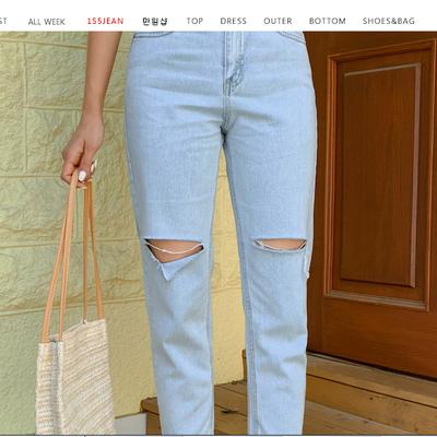 1区100%正宗韩国官网代购(韩国直发包国际运费)qnigirls-牛仔裤(2019-07-12上架)