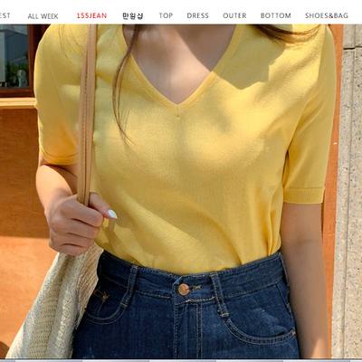 1区100%正宗韩国官网代购(韩国直发包国际运费)qnigirls-针织衫(2019-07-12上架)
