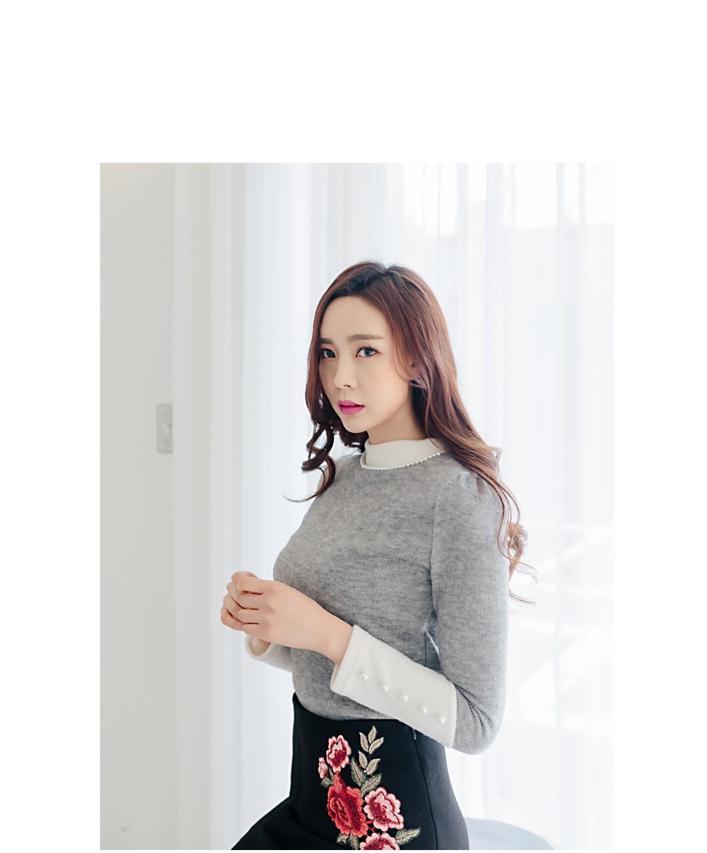 可爱搭配韩版冬季魅力珍珠韩国代购毛衣针织衫女装