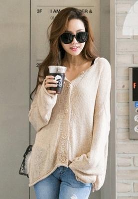 redopin-纯色魅力时尚春季开襟衫
