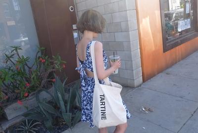 1区韩国代购正品验证ribbontie-rbop00718408-碎花纹开后背连衣裙