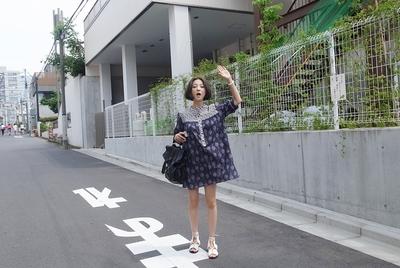 1区韩国代购正品验证ribbontie-rbop00736843-碎花纹淑女宽松连衣裙