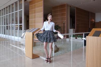1区韩国代购正品验证ribbontie-rbss00742056-碎花纹时尚百搭短裙