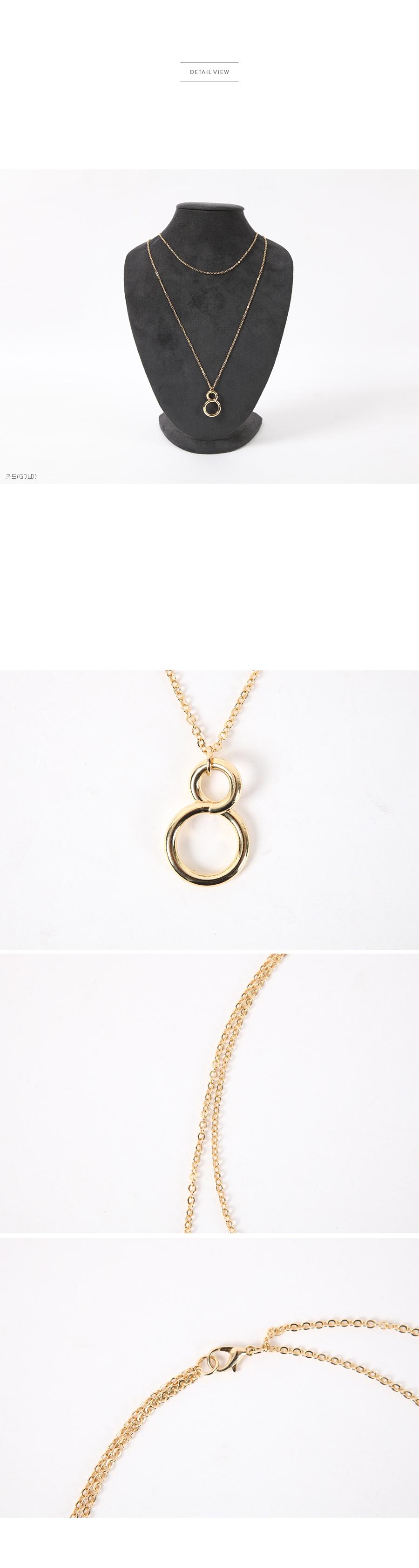 ribbontie-韩国时尚的8字形的圆形装饰吊坠女装2016年