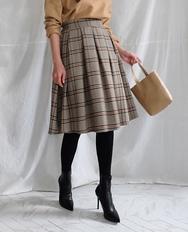 1区2017冬季新款韩国服装ribbontie品牌时尚魅力格纹中长裙(2017.11月)