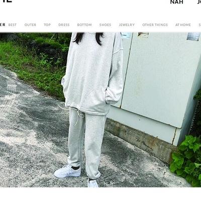 1区韩国本土服装代购(韩国圆通直发)ribbontie-休闲套装(2018-10-30上架)