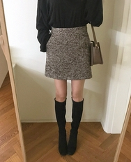 2018新款韩国服装ribbontie品牌韩版魅力时尚迷你裙(2018.1月)