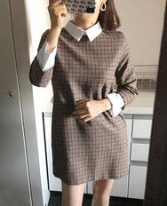 2018新款韩国服装ribbontie品牌格纹时尚新款连衣裙(2018.1月)
