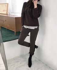 2018新款韩国服装ribbontie品牌韩版时尚魅力流行长裤(2018.1月)