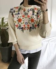 2018新款韩国服装ribbontie品牌花纹时尚可爱保暖冬季针织衫(2018.1月)