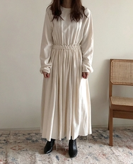 2018新款韩国服装ribbontie品牌纯色休闲流行时尚连衣裙(2018.1月)