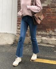 2018新款韩国服装ribbontie品牌搭配魅力新款女性牛仔裤(2018.1月)