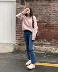 2018新款韩国服装ribbontie品牌纯色简约时尚保暖针织衫(2018.1月)