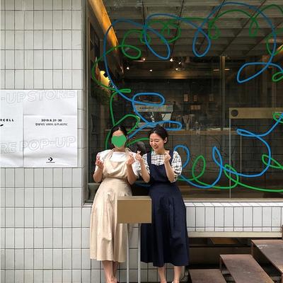 1区100%正宗韩国官网代购(韩国直发包国际运费)ribbontie-连衣裙(2019-07-19上架)