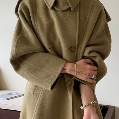 1区100%正宗韩国官网代购(韩国直发包国际运费)ribbontie-大衣(2020-10-24上架)