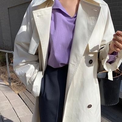 1区100%正宗韩国官网代购(韩国直发包国际运费)ribbontie-大衣(2021-03-24上架)