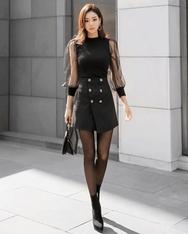 1区2017秋季新款|韩国发货|shescoming品牌韩国魅力感性纯色短裙(2017.11月)