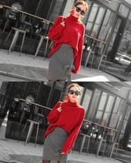 1区2017秋季新款|韩国发货|shescoming品牌韩国魅力百搭纯色针织衫(2017.11月)