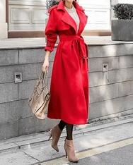 1区2017冬季新款韩国服装shescoming品牌充满魅力长款大衣(2017.11月)
