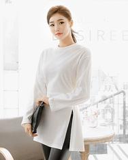 1区2017冬季新款韩国服装shescoming品牌很有魅力圆领T恤(2017.11月)