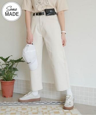 1区韩国本土服装代购(韩国圆通直发)sonyunara-宽松线条舒适长裤(2018-04-24上架)