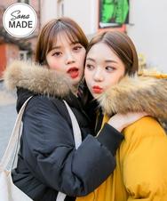 2018新款韩国服装sonyunara品牌时尚舒适连帽棉服(2018.1月)