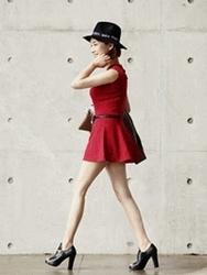 1区韩国代购正品验证ssongbyssong-SGOP00761784-竹节简约无袖修身连衣裙