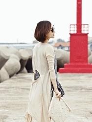 1区韩国代购正品验证ssongbyssong-SGCA00831332-长款后背开线气质开襟衫
