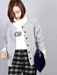 1区韩国代购正品验证ssongbyssong-SGCA00831490-厚款柔软保暖百搭开襟衫