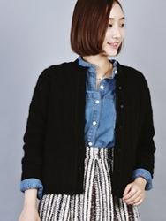 1区韩国代购正品验证ssongbyssong-SGCA00831489-高档厚款保暖绒毛开襟衫
