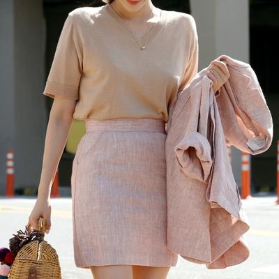 1区韩国本土服装代购(韩国圆通直发)ssongbyssong-时尚风格短袖针织衫(2018-04-24上架)