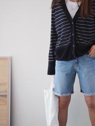 1区2017夏装新款|正宗韩国代购韩国发货|ssumj品牌韩国魅力女士牛仔中裤(2017.6月)