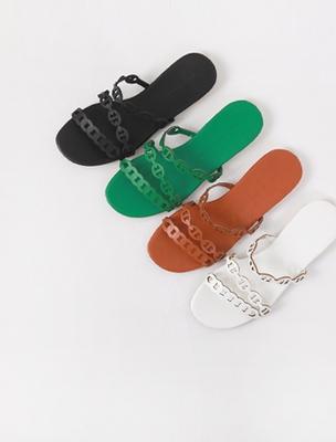 1区韩国本土服装代购(韩国圆通直发)ssumj-纯色韩版新款拖鞋(2018-04-19上架)