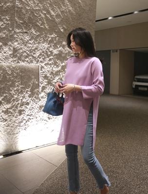 1区韩国本土服装代购(韩国圆通直发)ssumj-纯色新款针织连衣裙(2018-04-20上架)
