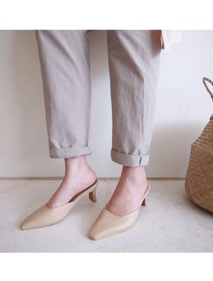 1区韩国本土服装代购(韩国圆通直发)ssumj-纯色简约流行高跟鞋(2018-04-20上架)