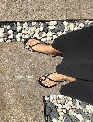 1区韩国本土服装代购(韩国圆通直发)ssumj-纯色休闲新款拖鞋(2018-04-24上架)